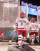 Mike Moran (BU - 11), Matt Lane (BU - 21) - The University of Maine Black Bears defeated the Boston University Terriers 7-3 (2EN) on Saturday, January 11, 2014, at Fenway Park in Boston, Massachusetts.