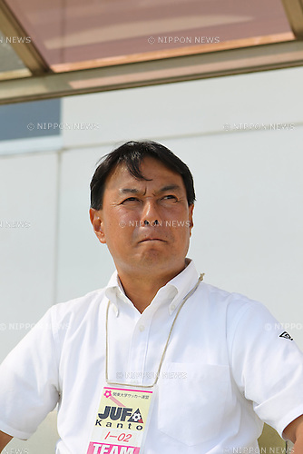 Akihiko Kamikawa (Meiji),.OCTOBER 13, 2012 - Football / Soccer :.Meiji University head coach Akihiko Kamikawa before the JR East Cup 2012, the 86th Kanto University Football League Division 1 match between Chuo University 0-3 Meiji University at Koga City Soccer Stadium in Ibaraki, Japan. (Photo by AFLO)