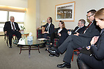 Palestinian President Mahmoud Abbas meets with ambassadors of Scandinavia in New York, November 30, 2012. Photo by Thaer Ganaim
