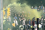 Notts County 0 Mansfield Town 0, 14/01/2017. Meadow Lane, League Two. Mansfield fans throw the first of many flares. Photo by Paul Thompson.