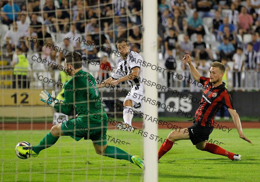 Fudbal Football Soccer<br /> UEFA Champions league-2nd qualifying round<br /> Partizan v HB Torshavn (Faroe Islands)<br /> Danko Lazovic (C)<br /> Beograd, 07.15.2014.<br /> foto: Srdjan Stevanovic/Starsportphoto &copy;