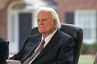 Billy Graham Listens To Former Presidents George Bush, Jimmy Carter, And Former President Clinton Talk.  by Jonathan L Green