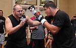 May 26, 2011; Frank Mir works out for the media in preparation for UFC 130 at the MGM Grand in Las Vegas, NV.