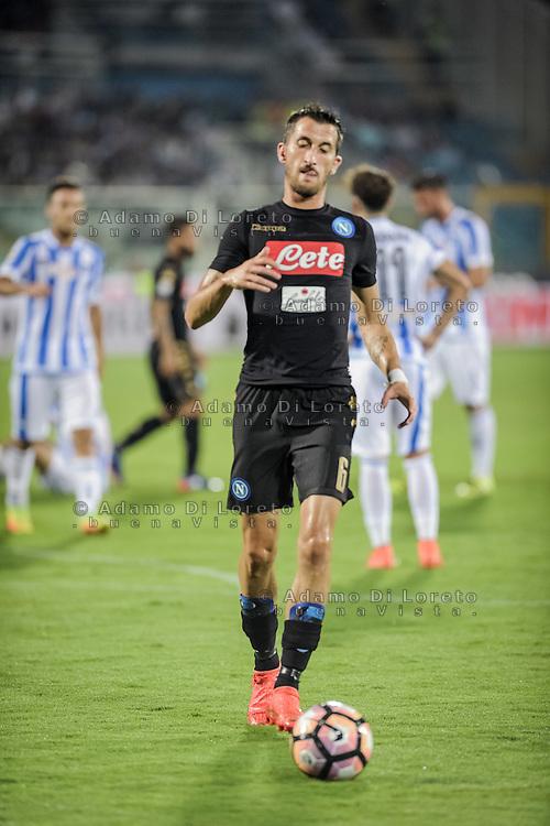 Valdifiori Mirko (Napoli) during the Italian Serie A football match Pescara vs SSC Napoli on August 21, 2016, in Pescara, Italy. Photo by Adamo Di Loreto