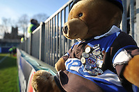 A general view of a Bath Rugby teddy bear. European Rugby Challenge Cup match, between Bath Rugby and Pau (Section Paloise) on January 21, 2017 at the Recreation Ground in Bath, England. Photo by: Patrick Khachfe / Onside Images