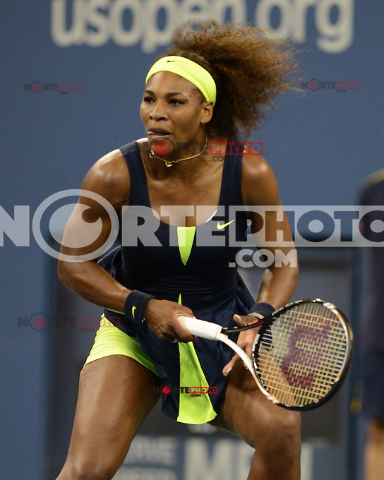 FLUSHING NY- SEPTEMBER 5: Serena Williams Vs Ana Ivanovic on Armstrong stadium at the USTA Billie Jean King National Tennis Center on September 5, 2012 in in Flushing Queens. Credit: mpi04/MediaPunch Inc. ***NO NY NEWSPAPERS*** /NortePhoto.com<br /> <br /> **CREDITO*OBLIGATORIO** *No*Venta*A*Terceros*<br /> *No*Sale*So*third* ***No*Se*Permite*Hacer...<br /> more &raquo;