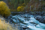 Idaho, Southeast, Banks. The South Fork of the Payette River in autumn.
