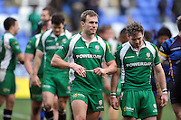 Andrew Fenby of London Irish is all smiles after the match. Aviva Premiership match, between London Irish and Worcester Warriors on February 7, 2016 at the Madejski Stadium in Reading, England. Photo by: Patrick Khachfe / JMP