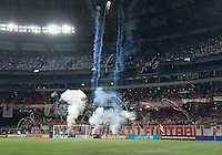 07 March 2012: The opening ceremonies during a CONCACAF Champions League game between the LA Galaxy and Toronto FC at the Rogers Centre in Toronto..The game ended in a 2-2 draw.