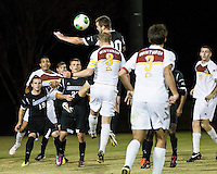 The Winthrop University Eagles beat the UNC Asheville Bulldogs 4-0 to clinch a spot in the Big South Championship tournament.  Cole Schwietering (20), Magnus Thorsson (8)