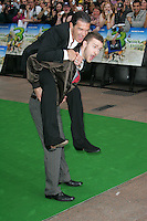 Antonio Banderas and Justin Timberlake arrive for the film premiere of SHREK 3 at the Odeon cinema in Leicester Square, London.