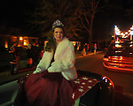 Lafayette High homecoming queen Amber Lawrence rides in the Christmas parade in Oxford, Miss. on Monday, December 6, 2010.