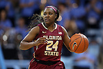 12 February 2015: Florida State's Shakena Richardson. The University of North Carolina Tar Heels hosted the Florida State University Seminoles at Carmichael Arena in Chapel Hill, North Carolina in a 2014-15 NCAA Division I Women's Basketball game. UNC won the game 71-63.