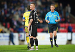 St Johnstone v Kilmarnock....06.11.10  .A disconcolate Andy Jackson looks back as Ref Iain Brines refuses to award a penalty after he was hauled down by Mohamadou Sissoko.Picture by Graeme Hart..Copyright Perthshire Picture Agency.Tel: 01738 623350  Mobile: 07990 594431