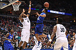 MILWAUKEE, WI - MARCH 18: Middle Tennessee Blue Raiders guard Antwain Johnson (2) goes up fora slam dunk on Butler Bulldogs forward Tyler Wideman (4) during the first half of the 2017 NCAA Men's Basketball Tournament held at BMO Harris Bradley Center on March 18, 2017 in Milwaukee, Wisconsin. (Photo by Jamie Schwaberow/NCAA Photos via Getty Images)