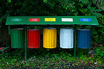 Costa Rica, El Castillo, Rainforest, Recycle Bins