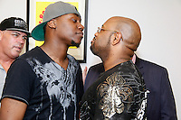 PHILADELPHIA, PA - JUNE 22 :  Uber Driver Johnson Jeanot  will step into tbe ring with Cab Driver Mike Davis press conference pictured at Jason Fine law office in Philadelphia, Pa on June 22, 2016 photo credit Star Shooter / MediaPunch