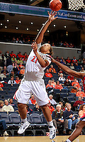 CHARLOTTESVILLE, VA- December 7: Jazmin Pitts #21 of the Virginia Cavaliers handles the ball during the game against the Liberty Lady Flames on December 7, 2011 at the John Paul Jones arena in Charlottesville, Va. Virginia defeated Liberty 64-38. (Photo by Andrew Shurtleff/Getty Images) *** Local Caption *** Jazmin Pitts