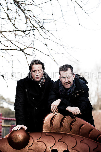 Former Belgian bicycle racers Mario De Clercq and Erwin Vervecken (Belgium, 17/01/2012)