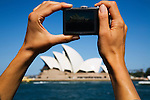 Photographing the iconic Sydney Opera House.  Sydney, New South Wales, AUSTRALIA.