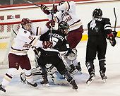 Ryan Fitzgerald (BC - 19), Kyle McKenzie (PC - 5), [ - The Boston College Eagles defeated the visiting Providence College Friars 3-1 on Friday, October 28, 2016, at Kelley Rink in Conte Forum in Chestnut Hill, Massachusetts.The Boston College Eagles defeated the visiting Providence College Friars 3-1 on Friday, October 28, 2016, at Kelley Rink in Conte Forum in Chestnut Hill, Massachusetts.