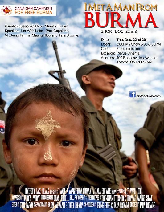 I Met a Man From Burma film (Canada)