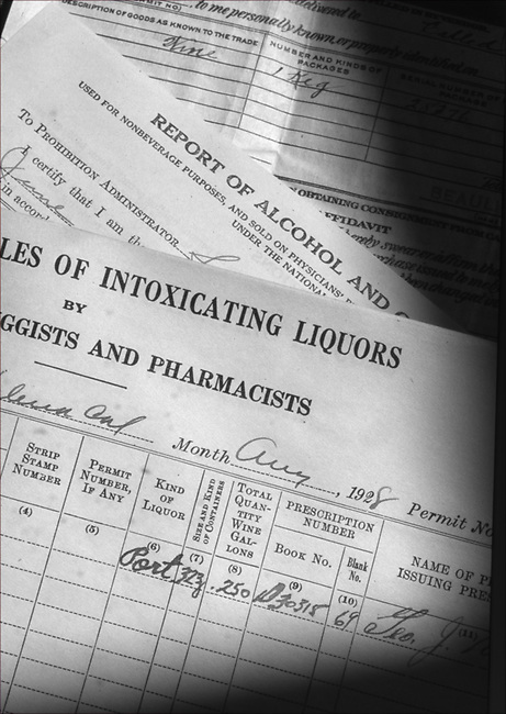 Prohibition papers found above Vasconi Pharmacy, St. Helena, circa year 2000