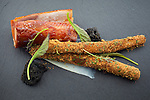 Pheasant with roasted salsify, wild licorice, bourbon and spiced milk