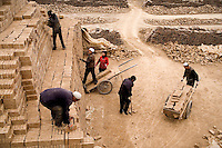 Workers in Linxia, Gansu Province, China
