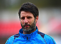 Lincoln City manager Danny Cowley during the pre-match warm-up <br /> <br /> Photographer Andrew Vaughan/CameraSport<br /> <br /> Vanarama National League - Gateshead v Lincoln City - Monday 17th April 2017 - Gateshead International Stadium - Gateshead <br /> <br /> World Copyright &copy; 2017 CameraSport. All rights reserved. 43 Linden Ave. Countesthorpe. Leicester. England. LE8 5PG - Tel: +44 (0) 116 277 4147 - admin@camerasport.com - www.camerasport.com