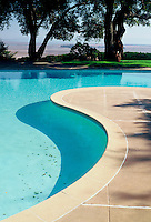 Swimming pool designed by landscape architect Thomas Church to match Sonoma County CA saltmarsh landscape
