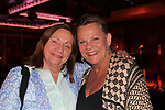 Actress Dale Soules (Orange is the New Black) poses with Guiding Light's Kim Zimmer as they are both performers at the Barn Theatre and Kim headlines at Barn Theatre - A Celebration at Feinsteins/54 Below, New York City, New York on April 28. 2017. Barn Theatre is located in Augusta, Michigan.  (Photo by Sue Coflin/Max Photos)