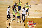 Apr. 5, 2014; Notre Dame Fighting Irish women's basketball team practice at the Bridgestone Arena in Nashville, Tenn. Notre Dame square off against Maryland Terrapins Sunday night in the national semifinal of the NCAA Final Four tournament.  Photo by Barbara Johnston/University of Notre Dame