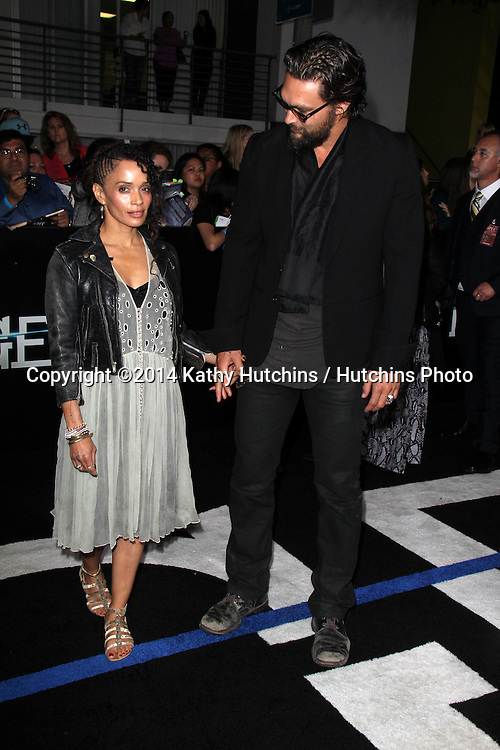 "LOS ANGELES - MAR 18:  Lisa Bonet, Jason Momoa at the ""Divergent"" Los Angeles Premiere at Bruin Theater on March 18, 2014 in Westwood, CA"