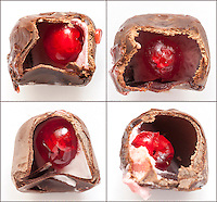 An improperly stored and past the expiration date chocolate cherry cordial.   (© Richard B. Levine)