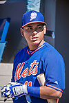 13 March 2014: New York Mets infielder Ruben Tejada awaits his turn in the batting cage prior to a Spring Training game against the Washington Nationals at Space Coast Stadium in Viera, Florida. The Mets defeated the Nationals 7-5 in Grapefruit League play. Mandatory Credit: Ed Wolfstein Photo *** RAW (NEF) Image File Available ***