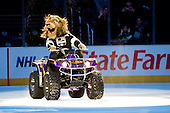 Official mascot Bailey after ice-hockey match between Los Angeles Kings and Phoenix Coyotes in NHL league, March 3, 2011 at Staples Center, Los Angeles, USA. (Photo By Matic Klansek Velej / Sportida.com)