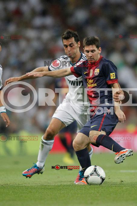 Real Madrid vs Barcelona  during Super Copa of Spain on Agost 29th 2012...Photo:  (ALTERPHOTOS/Ricky) Super Cup match. August 29, 2012. <br />  (foto:ALTERPHOTOS/NortePhoto.com<br /> <br /> **CREDITO*OBLIGATORIO** <br /> *No*Venta*A*Terceros*<br /> *No*Sale*So*third*<br /> *** No*Se*Permite*Hacer*Archivo**<br /> *No*Sale*So*third*
