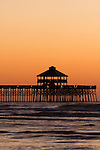 Folly Beach Pier Sunrise South Carolina