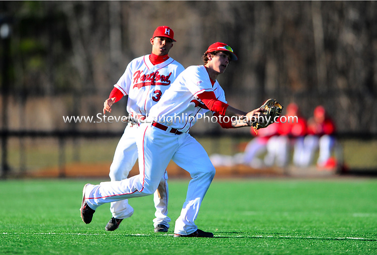 WEST HARTFORD, Conn. - The Hartford baseball team dropped its sixth straight game when it fell to Connecticut on Tuesday, 11-0. The Hawks got four hits, including two from junior Simon Kudernatsch, while committing four errors which led to six unearned runs.