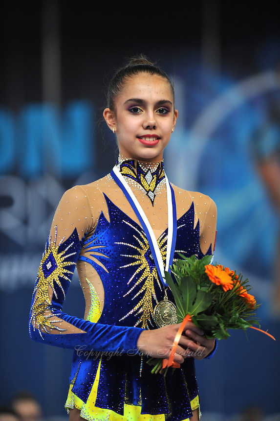 "Rita Mamun of Russia smiles during group ""B"" awards ceremony at 2011"