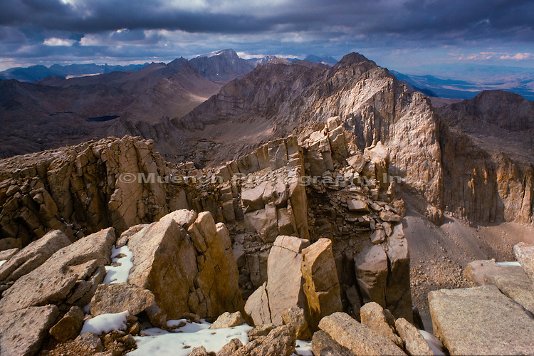 Mt. Whitney,toprock,Sierra Nevada Mountain Range,Sequoia National Park,California