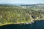 aerial photo of Beaux Arts Village, a community on the shores on Lake Washington
