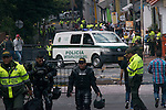 Bomb explodes by Colombia bull ring killing 1 policeman
