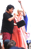 NEW YORK, NY-July 17: Bong Joon-Ho, Tida Swinton shooting on location for Netflix & Plan B Enterainment  film Okja in New York. NY July 17, 2016. Credit:RW/MediaPunch
