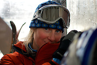 skier lady