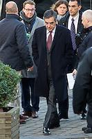 Fran&ccedil;ois Fillon, candidat de la droite &agrave; la pr&eacute;sidentielle, lors du Sommet statutaire du Parti Populaire Europ&eacute;en (PPE), &agrave; Bruxelles.<br /> Belgique, Bruxelles, 15 d&eacute;cembre 2016<br /> Fran&ccedil;ois Fillon, French politician, attends the  EPP ( European People&rsquo;s Party ) meeting in Brussels.<br /> Belgium, Brussels, 15 December 2016