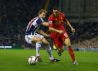 WEST BROMWICH, ENGLAND - Wednesday, September 26, 2012: Liverpool's Oussama Assaidi in action against West Bromwich Albion during the Football League Cup 3rd Round match at the Hawthorns. (Pic by David Rawcliffe/Propaganda)