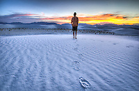"""Another Day in Paradise! This is again, one of those times when I jumped in the last shot of the day. From my """"Full Moon at White Sands Photo Workshop"""" in New Mexico - August 2012"""
