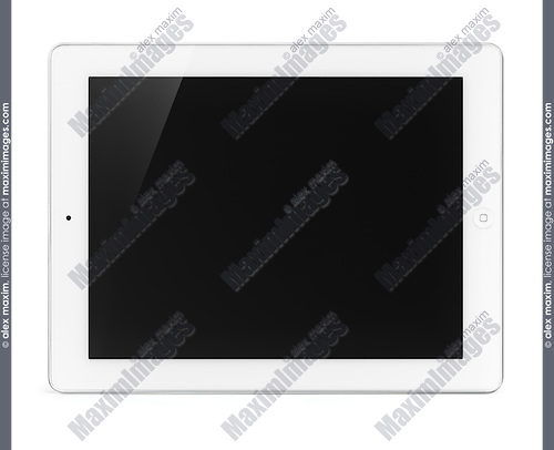 Apple iPad 2 tablet computer isolated with clipping path on white background